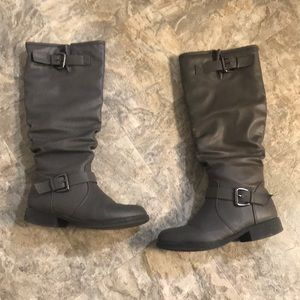 Knee High Gray Boots